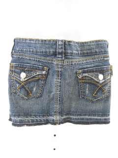 TRACTOR Girls Blue Denim Jeans Skirt Sz 10