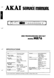 Akai MB76 Service Manual MB 76 MB 76 |