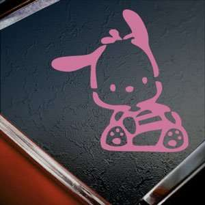 POCHACCO Dog Pink Decal Car Truck Bumper Window Pink