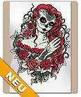 Shirt mit Tattoo Motiv Frau im Mexican Style   Top Qualität