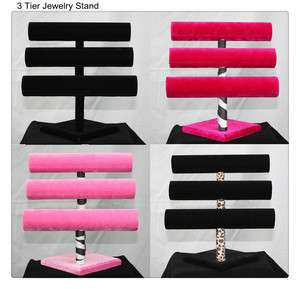 12 3 Tier Jewelry Hard Display Stand Holder Bracelet Chain Bangle