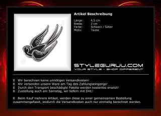 Patch Aufnäher Aufbügler Rockabilly Biker Rocker Schwalbe Vogel