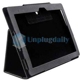 For Sony S1 Tablet Black Plain Folio Leather Case Pouch Bag