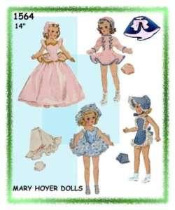 1564 Toni Doll Costumes Wardrobe Doll Pattern 14