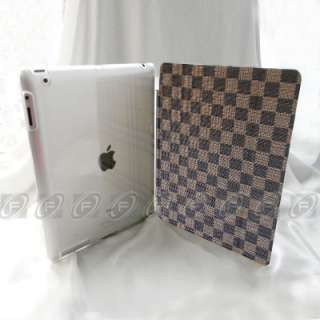 Fashion Magnetic Leather Smart Cover + Back Case w/ Stand for iPad 2