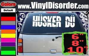 Husker Du Band Vinyl Car or Wall Decal Sticker