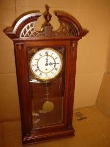 FRANZ HEMLE SLIGH WESTMINSTER CHIME GERMAN WALL CLOCK KEY WIND