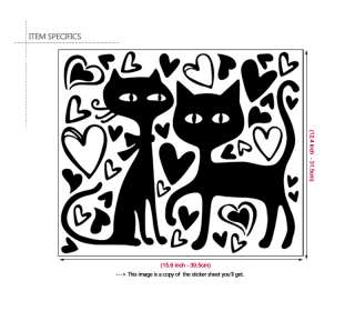 CATS Wall Sticker Nursery Kids Decor Vinyl Decal Black