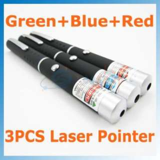 5mw Blue Violet+Green+Red Laser Pointer pen Visible Beam Fast From USA