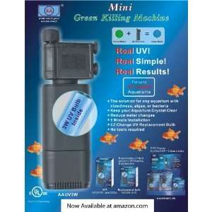 Mini Fish Tank Aquarium Green Killing Machine UV Sterilizer
