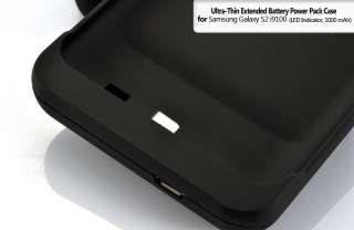 Ultra Thin Extended Battery Power Pack Case for Samsung Galaxy S2