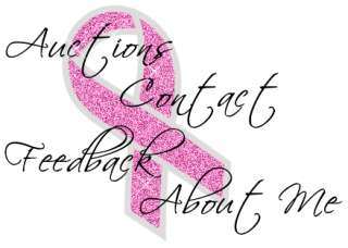 BREAST CANCER AWARENESS BLING GROSGRAIN RIBBON PINK