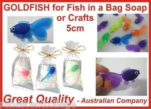 20 Plastic GOLD FISH to make fish in a bag soaps/crafts/toys Cute