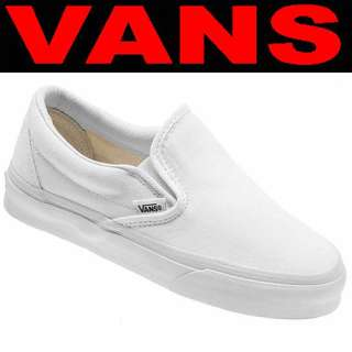 VANS SHOES Classic Slip On TRUE WHITE Men11