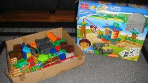 MEGA BLOKS GO DIEGO GO RESCUE CENTER DUPLOS LOT RARE