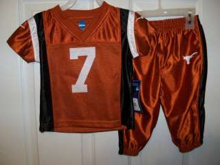 Texas Longhorn Football Jersey Outfit Boys Toddler Size 3T NWT #42