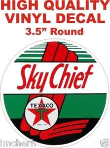 Vintage Style Sky Chief Texaco Oil And Gas Gasoline Pump Decal The