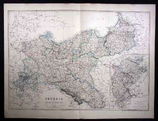 1867 Dispatch Map   Prussia Germany Mecklenburg Berlin