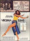 1979 VIRGINIA SLIMS CIGARETTES AD Bill Blass Fashion items in