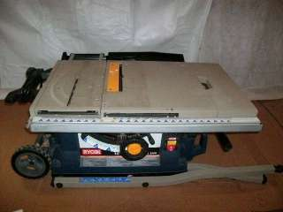 RYOBI 10IN PORTABLE TABLE SAW MODEL NUMBER BTS211