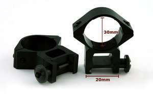 Pair of 30mm High Profile Scope Ring Mount 30 20H 00158
