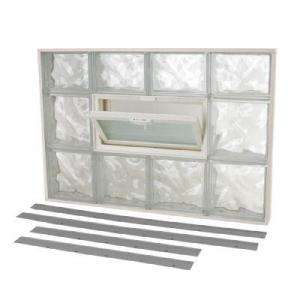 TAFCO WINDOWS NailUp2 Glass Block Window, 32 in. x 22 in. Wave Pattern