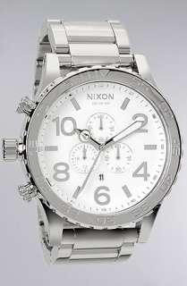 Nixon The 5130 Chrono Watch in High Polish Silver  Karmaloop