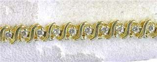 Estate 1 carat Diamond 14k Yellow Gold Tennis Bracelet