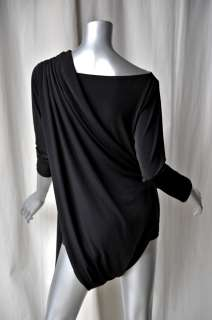 NORMA KAMALI COUTURE Black 5 In 1 Wrap Blouse/Dress S/M