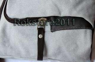 Brand New Mens Canvas Satchel Schoolbag Shoulder Bag Pack Sack