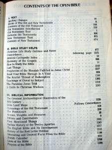 Vintage 1975 HOLY BIBLE The OPEN BIBLE KJV Nelson/Royal Red Letter