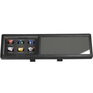 Car Rearview Mirror with Bluetooth 4.3 GPS Sat Nav AV IN 4G Card POI