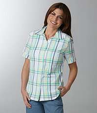 Allison Daley Textured Plaid Camp Shirt $11.20