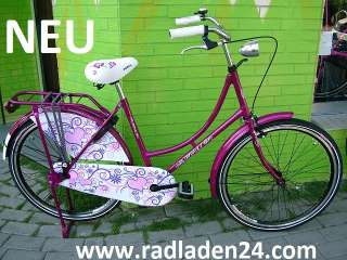 26 ZOLL Damen HOLLANDRAD Fahrrad LILA Omafiets NEU