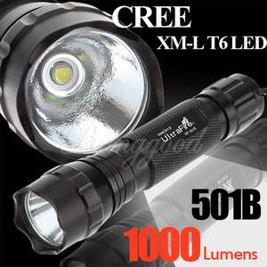 UltraFire 1000Lm CREE XM L T6 LED Compact Flashlight Torch WF 501B