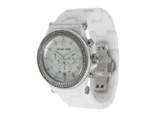 NWT$495 MK5391 Michael KORS Ladies Ceramic Chronograph Watch Crystal