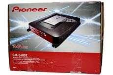 GM 5400T 760 Watt Peak 380 Watt RMS 2 Channel Car Amplifier + Amp Kit