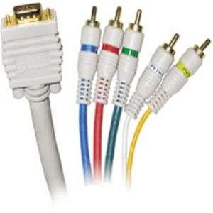 Steren 253 606IV 6 VGA To RGB H/V 5 Component Video Cable at
