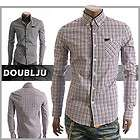 Happy lighter Mens Casual Check Plaid Button Collar Dress Shirts (NS2)