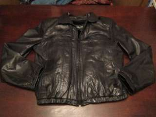 Vtg Wilsons Mens Soft Leather Bomber Cool Mod Fleece Lined Jacket Coat