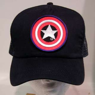 Captain America SHIELD Logo Baseball Cap/Hat NAVY