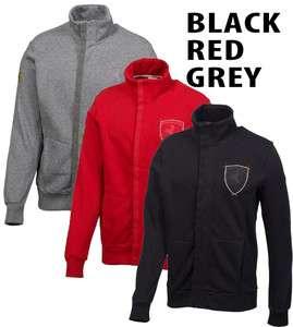 NEW Puma Ferrari Sweater Shirt Mens Driving Track Jacket Black Red