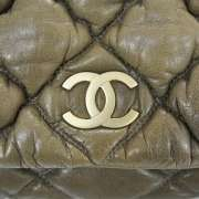 CHANEL Leather Small BUBBLE QUILT Flap Bag Purse