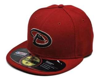 Fitted MLB Baseball Hat Cap Arizona Diamondbacks Game Burgandy
