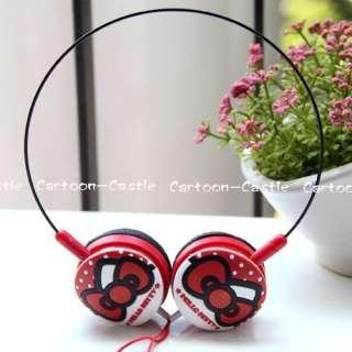 Hello Kitty Laptop Headset Earphone Headphone Red 30855
