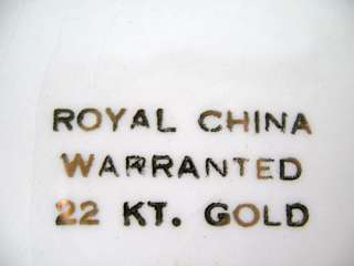 22K Solid GOLD Collectors ROYAL CHINA 10 PLATE +HANGER