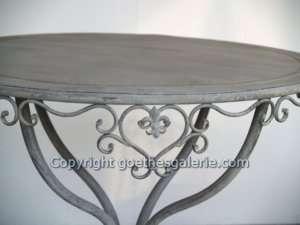 Tisch Gartentisch SHABBY Chic Metall Möbel Bistrotisch