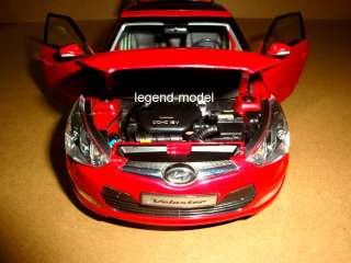 18 Hyundai Veloster 2011 Die Cast Model Red Color