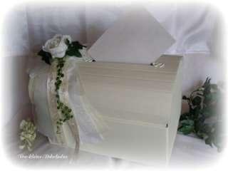 Briefbox,Geldgeschenke,Hochzeit,creme weiß Tischdeko