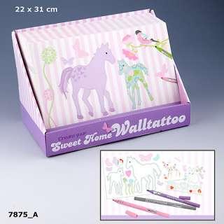 Depesche Create your Sweet Home Wandtattoos Malbuch Top Model 7875